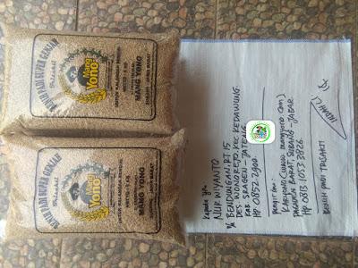 Benih padi yang dibeli    NARWIYANTO Sragen, Jateng.  (Sebelum packing karung ).
