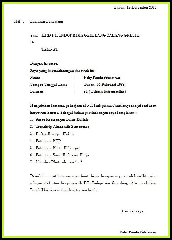 Contoh Daftar Riwayat Hidup Calon Kepala Desa Zentoh