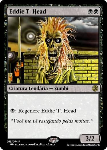 Eddie T. Head, o mascote do Iron Maiden, em sua versão carta de Magic the Gathering