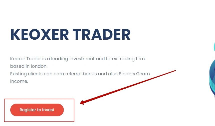Регистрация в Keoxer Trader