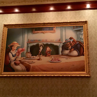 Castle Gallery Room Wall art at Be Our Guest Restaurant