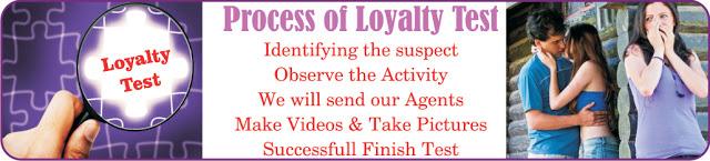 loyalty test investigation, loyalty test, honesty test, partner loyalty test, private detective mumbai