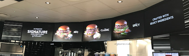 New digital menu's at McDonalds