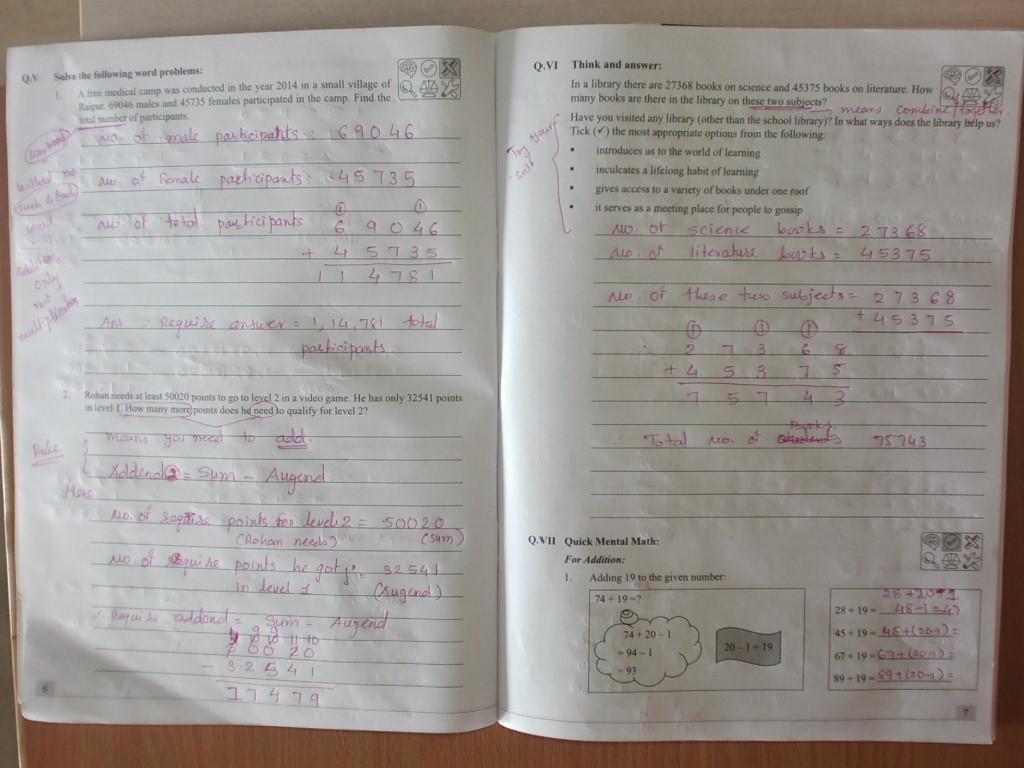 Grade -4 Podar International School, Gandhinagar : workbook ...