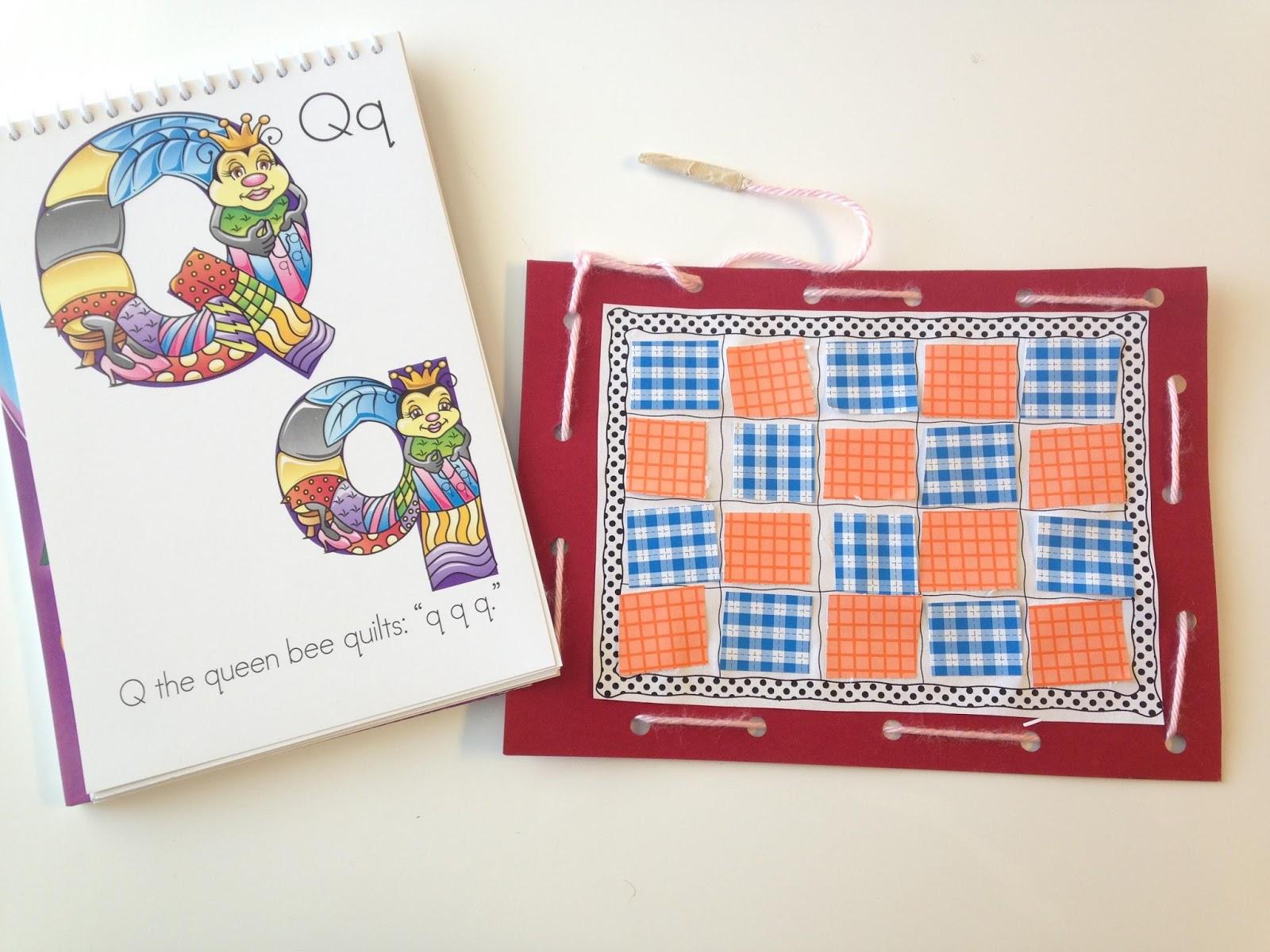 Amazing Action Alphabet Quilting On Q Day In Preschool