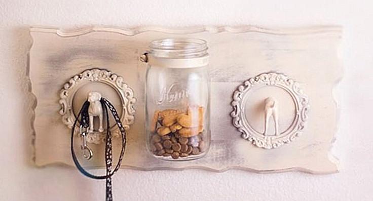 Wooden Storage Mason Jar
