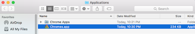 Chromes.app in Finder