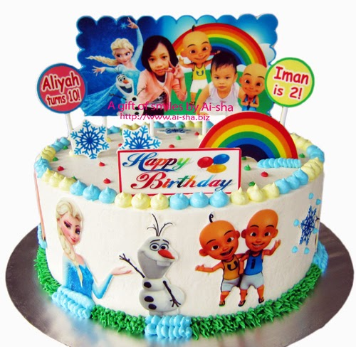 Birthday Cake Disney Frozen & Upin Ipin