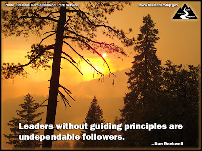 Leaders without guiding principles are undependable followers. –Dan Rockwell [Photo: Stefanie Garcia/National Park Service]