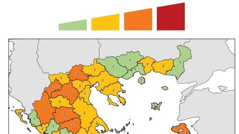Σε ισχύ ο Χάρτης του κορονοϊού - Τι ισχύει για μάσκα, συναθροίσεις ανά επίπεδο