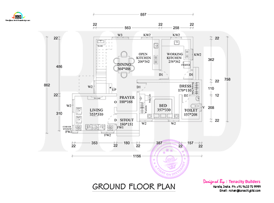 Drawing of ground floor