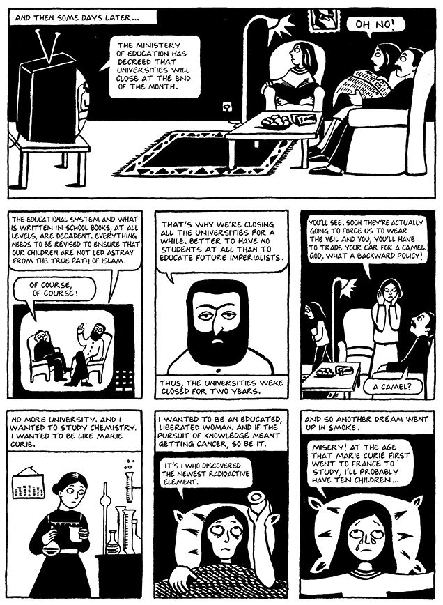 Read Chapter 10 - The Trip, page 71, from Marjane Satrapi's Persepolis 1 - The Story of a Childhood