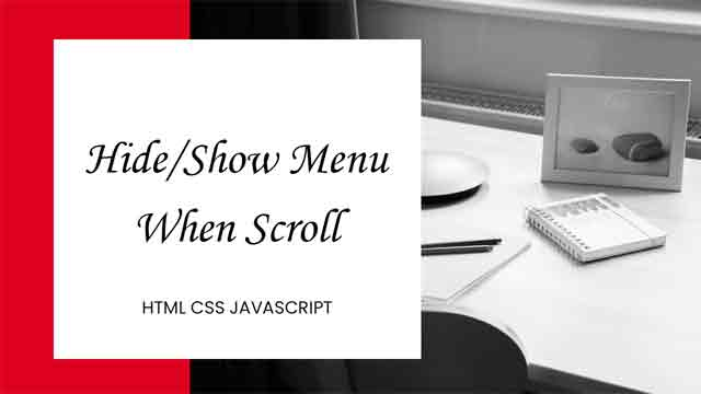 show and hide menu on scroll
