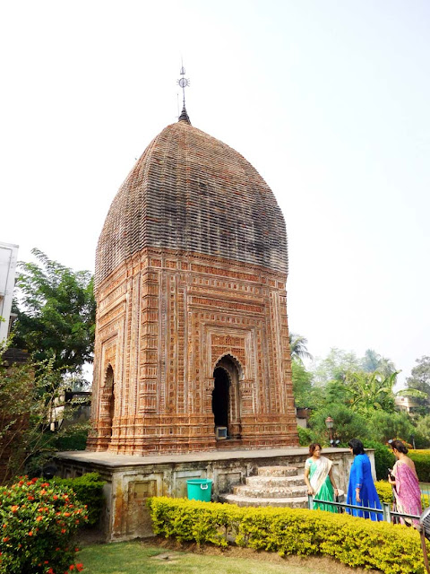 The Pratapeshwar Temple dedicated to Lord Shiva, Kalna Rajbari Temple complex, West Bengal