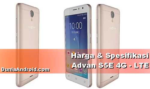 Harga HP Advan S5E 4G LTE