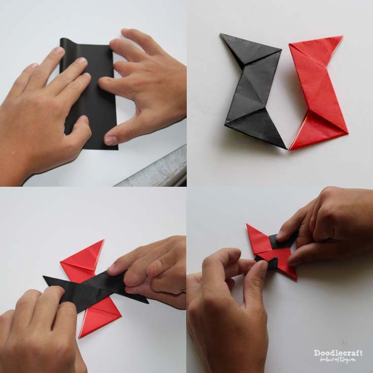 Fold The Final Folds Opposite Direction Of First One Lay On Top Other Triangle Ends Down And Tuck Them Into