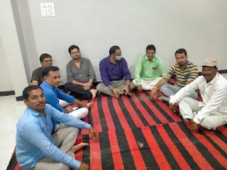 भाजपा की बैठक व सेवा ही समर्पण अभियान के अंतर्गत कार्य किया गया