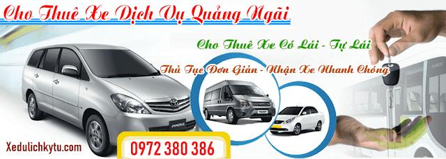 Mức giá cho thuê xe ô tô du lịch tại Quảng Ngãi ở công ty Kỳ Tư phải chăng