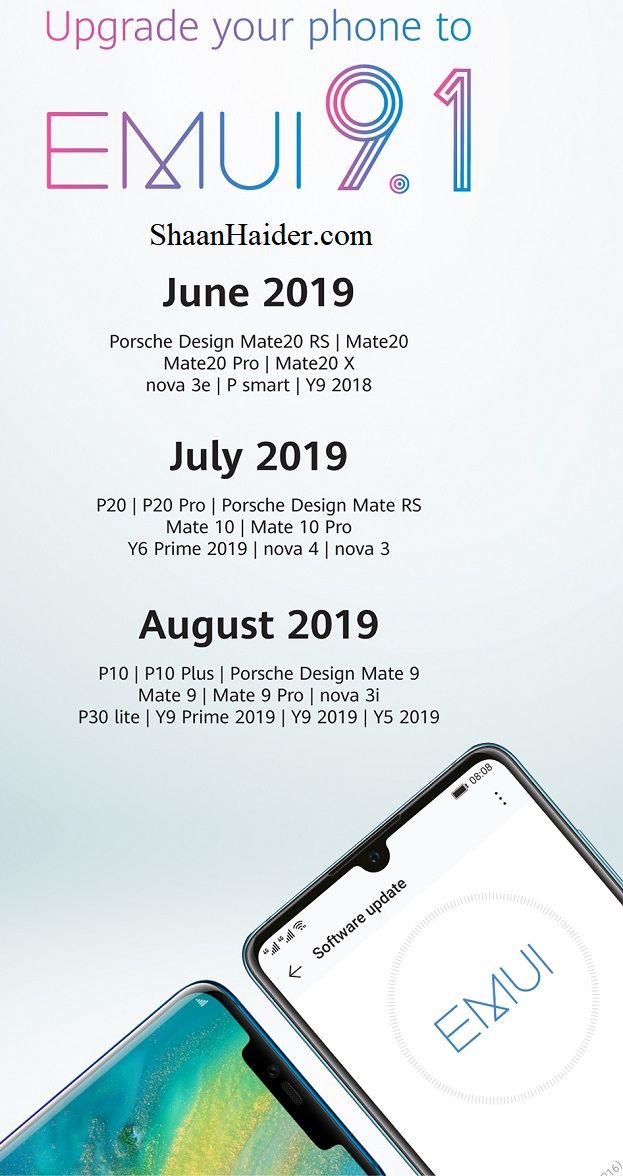 The Official List of Huawei Smartphones and Schedule for EMUI 9.1 Update