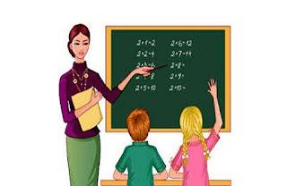 معلمة و طلاب