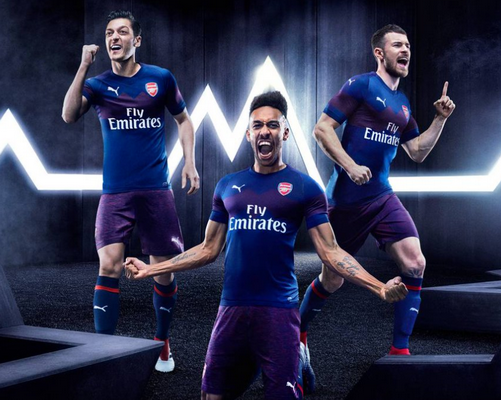 e1dd57e82 replicas camisetas futbol 2019  camiseta del Arsenal FC segunda 2018 19