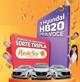 Promoção Rede Sol Supermercados 2017 2018 Aniversário Sorte Tripla