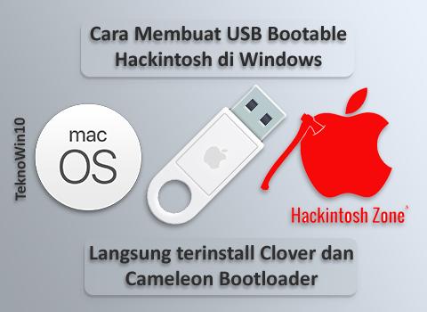 Cara Mudah Membuat USB Bootable macOS/Hackintosh di PC Windows 10, 8/8.1, 7