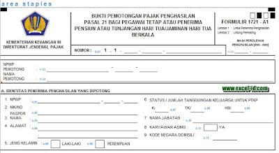 Formulir pph Pasal 21