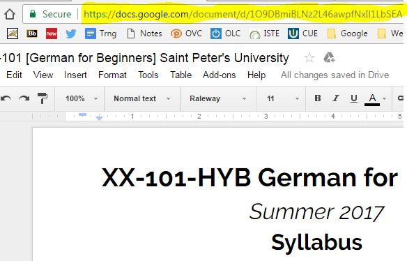 Syllabus Tips: Use Google Docs!   Ed Tech: Caffeinated