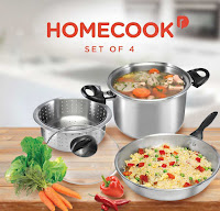 Homecook 4 Piece Cookware