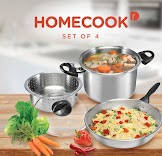 Homecook 4 Piece Cookware (Set of 4)