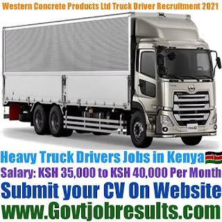 Western Concrete Products Ltd Heavy Truck Driver Recruitment 2021-22
