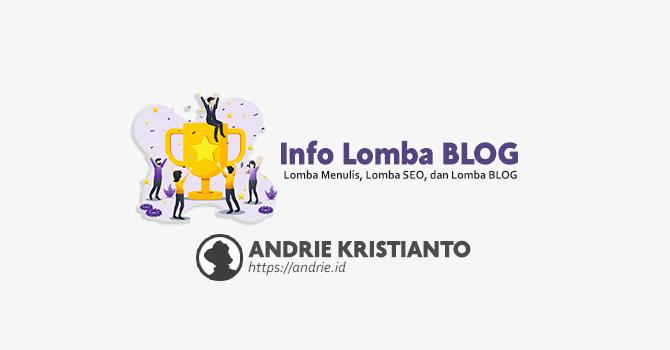 Info Lomba Blog Lomba SEO dan Lomba Menulis di Indonesia Saat ini 2020