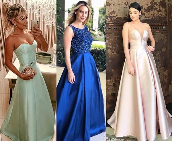 vestido estilo princesa festa