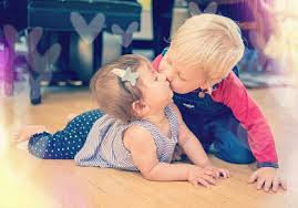 Top latest hd Baby Boy to Girl frist kiss images photos pic wallpaper free download 56