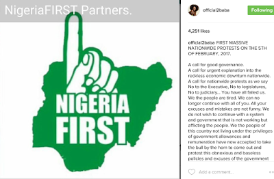 Nigeria First protest
