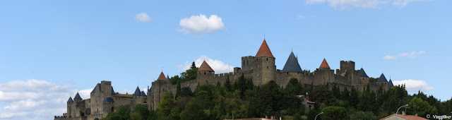 Panorama sulla cittadella fortificata di Carcassonne