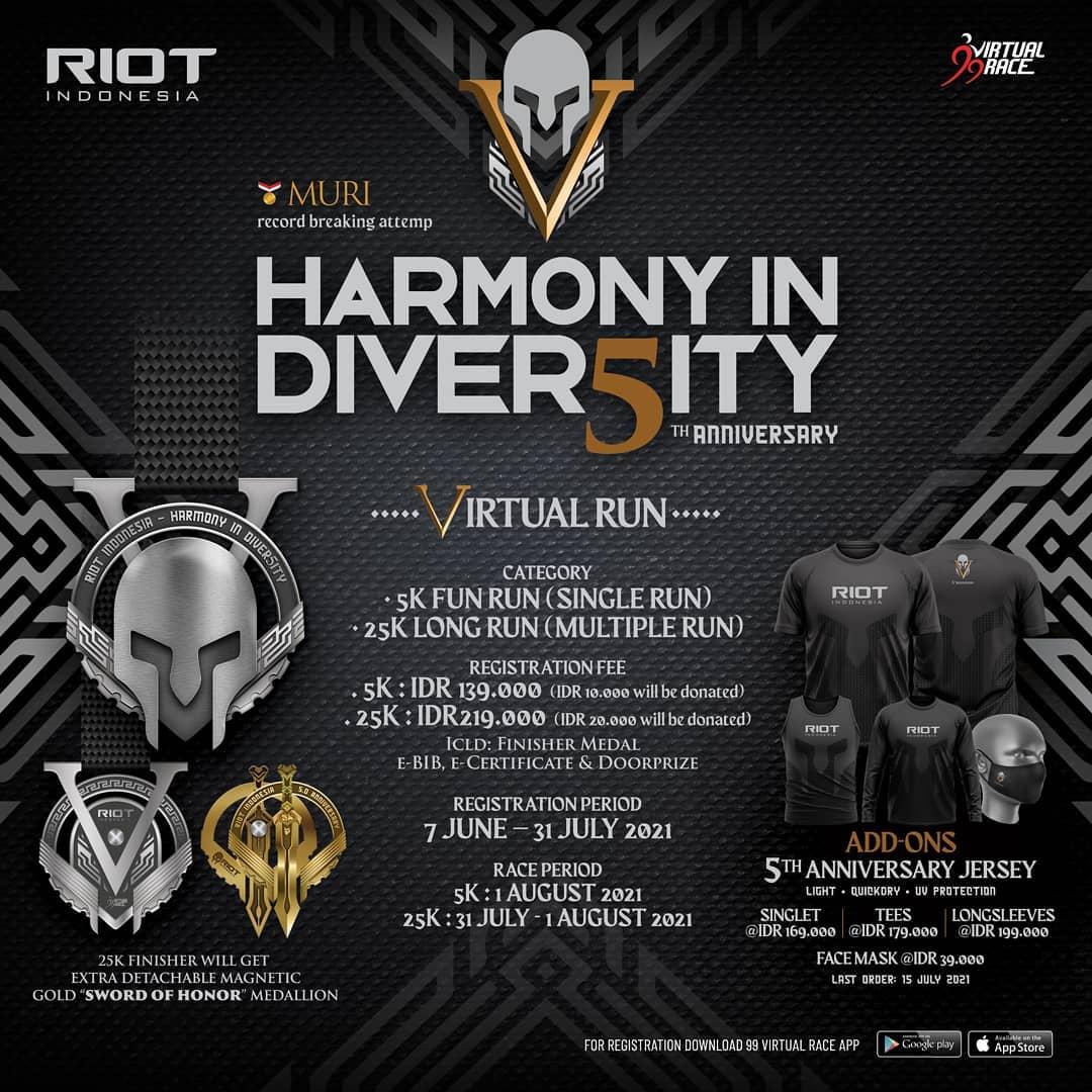 RIOT 5th Anniversary Virtual Run • 2021