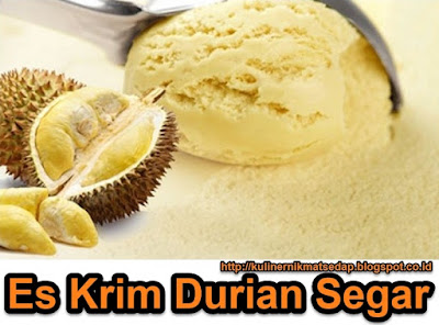 Petunjuk lengkap cara bikin es krim durian
