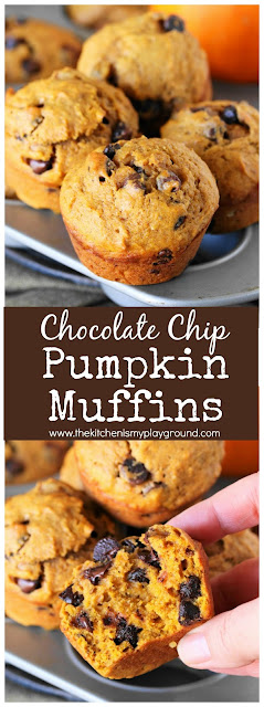 Chocolate Chip Pumpkin Muffins pin image