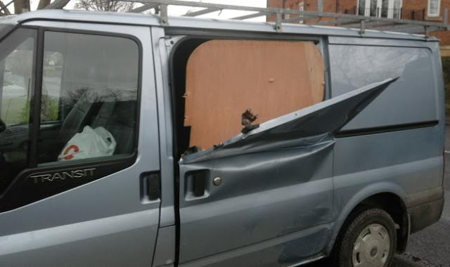 Builder's fury over 'peel and steal' attack on his van