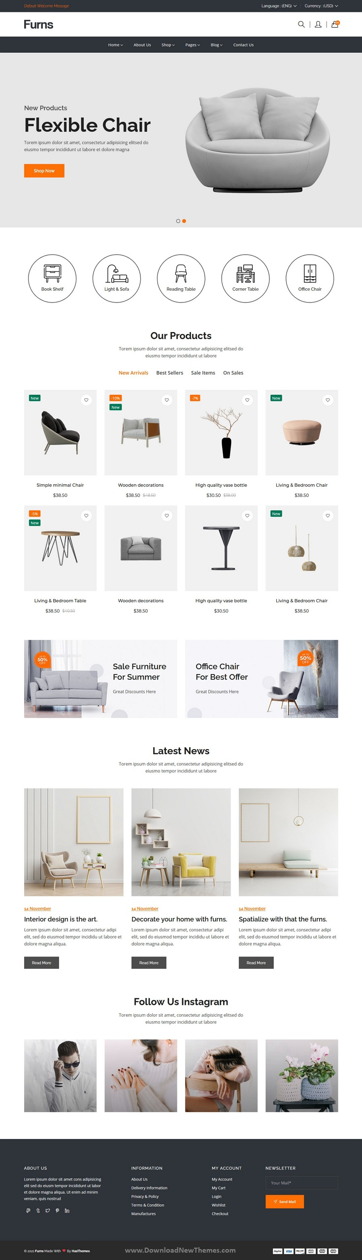 Furniture eCommerce Bootstrap Template