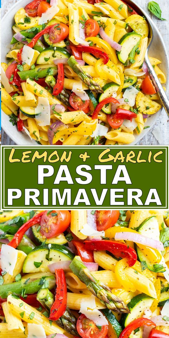 Best and Easy Pasta Primavera with Lemon Garlic Butter