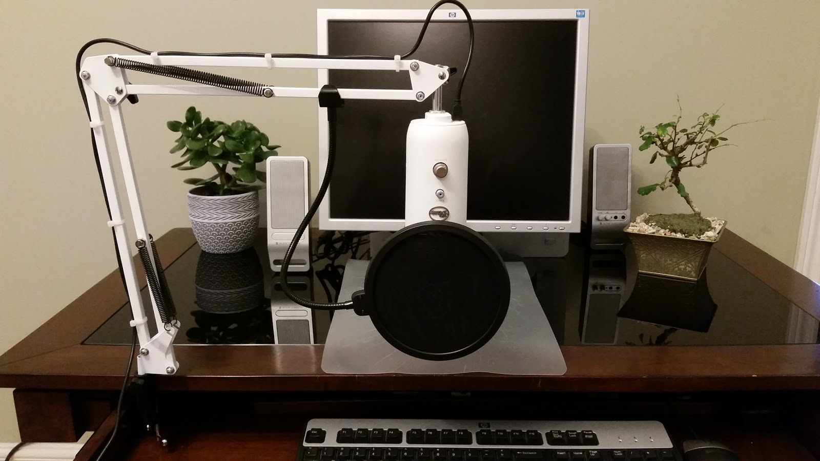 Blue Yeti Professional Recording Microphone Stand Unboxing Review Setup