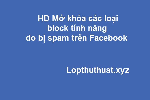 Hướng dẫn tự Unblock tính năng do lỗi spam trên Facebook