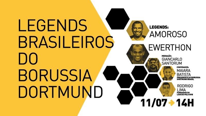 Considerados jogadores lendários do Borussia Dormund, os brasileiros Amoroso e Ewerthon se encontram neste domingo (11), às 14h, para relembrarem os tempos de futebol alemão e debaterem as principais diferenças esportivas e culturais entre Brasil e Alemanha.