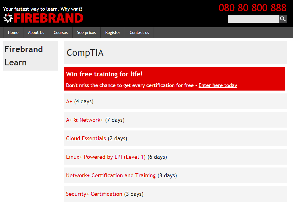 Use Firebrand Learn to get access to CompTIA A+ revision resources