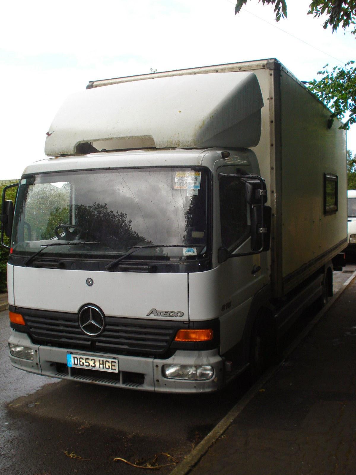 My Red Van: Mercedes Box Van 'Camper'