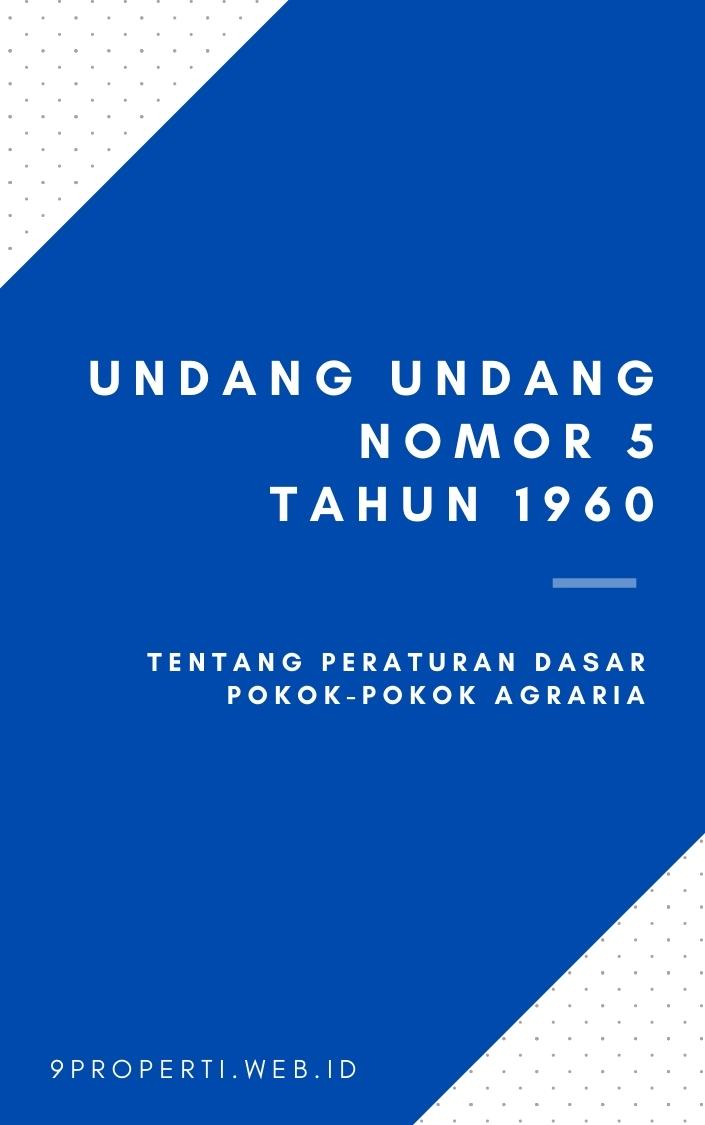 Undang Undang Nomor 5 Tahun 1960