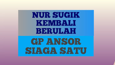 Nur Sugik Kembali Berurusan dengam GP Ansor